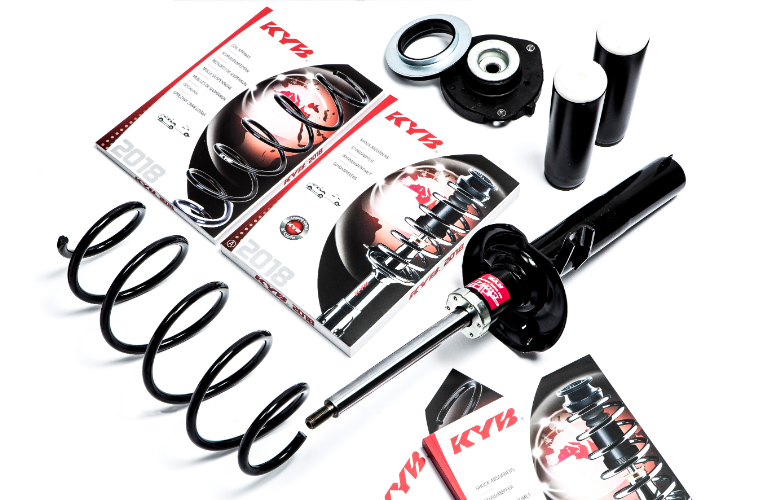 European shock absorbers and coil springs catalogue released by KYB