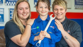 Dream made true for seven-year-old who was told she couldn't be a mechanic