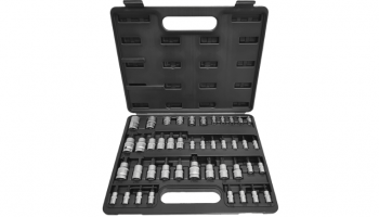 """Angry Jester 43pc 1/4"""", 3/8"""" & 1/2"""" Dr. TRX-star/tamper proof, hex and E-socket set"""