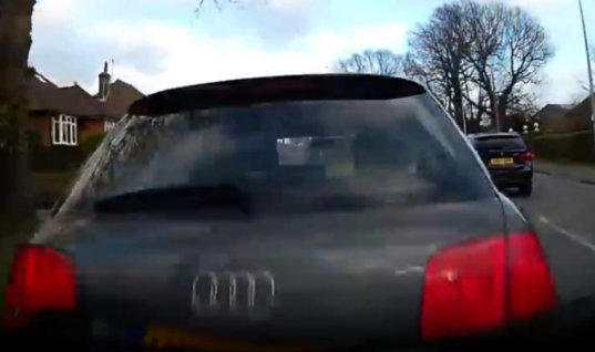 Watch: Drink-driver films entire journey on dashcam before crashing into parked car