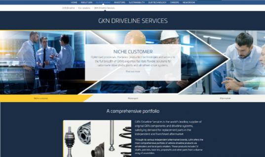 GKN groups aftermarket activities into new website