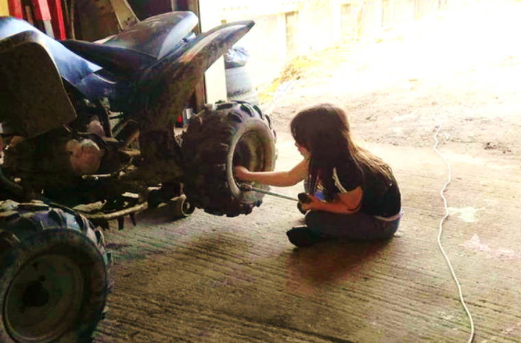 Trade encourages seven-year-old to follow her mechanic dreams after being told she can't