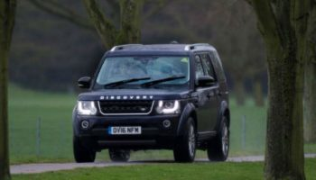 Queen's 10 year-old grandson takes family Land Rover for a spin
