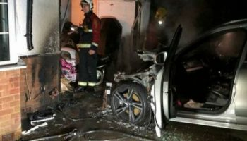 Volvo XC90 plug-in hybrid goes up in flames while charging outside family home