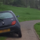 Car takes wrong turn and gets stuck on 11th hole on golf course