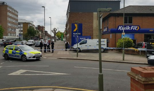 Man runs into Kwik Fit for help after suspected acid attack