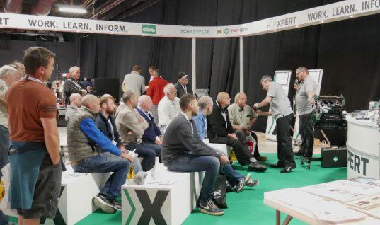 Technicians descend on Schaeffler stand at MECHANEX trade show in Manchester