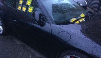 """Porsche owner handed £400 worth of parking fines """"can't be bothered"""" to display permit"""