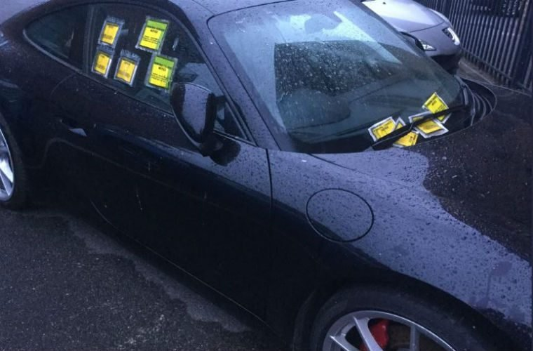 "Porsche owner handed £400 worth of parking fines ""can't be bothered"" to display permit"