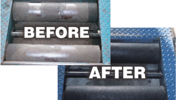 Refurbish tired brake rollers with ProCoat System gritting kits from Prosol
