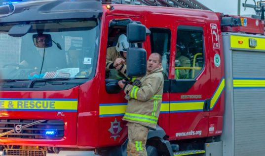 Firefighters tackle blaze at Lancashire garage