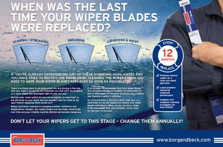 Free wiper blade check poster available from First Line