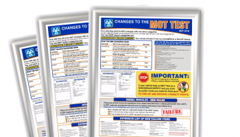 """""""Changes to the MOT test"""" informative poster available from Prosol"""