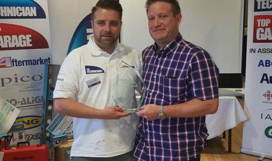 Top Technician 2018 named as Shaun Miller