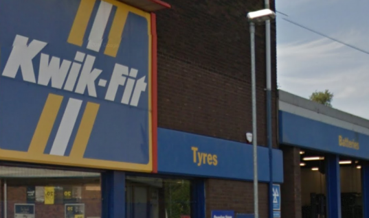 Police pepper spray Kwik Fit technician