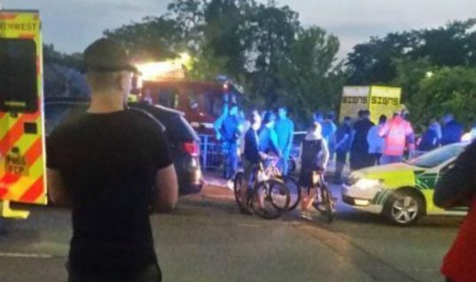 Five seriously injured following boy racer's failed drift manoeuvre