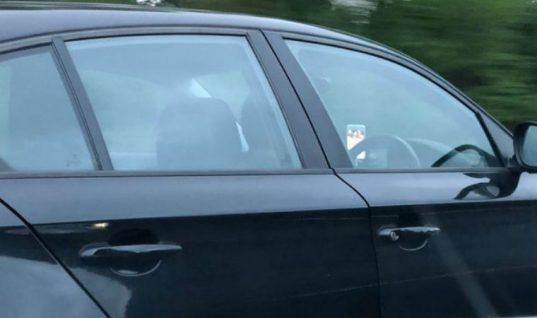 Police catch driver watching TV on M6