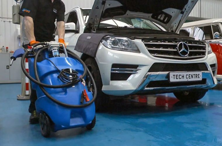 Take AdBlue to the vehicle with this mobile tank from Laser Tools