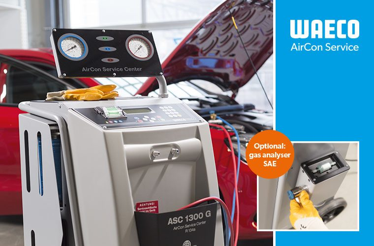 Fully automatic air conditioning service station WAECO ASC 1300G