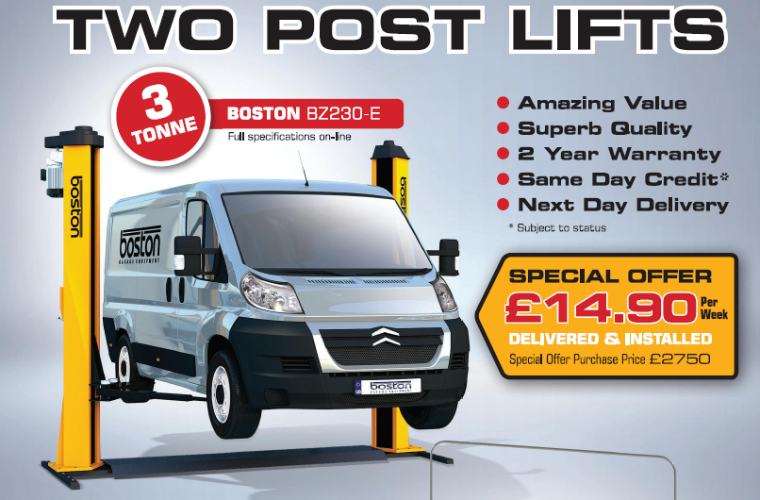 Special deals on Boston two-post lifts