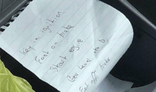 """""""How to drive note"""" found in car that sent stands flying at flower show"""