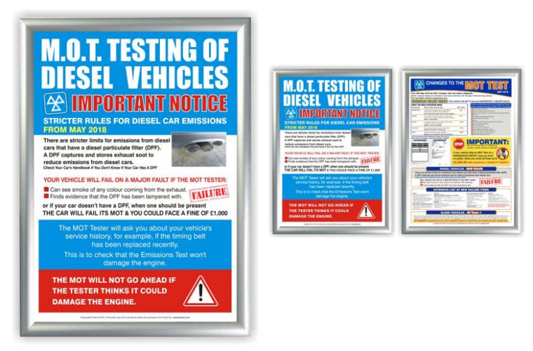 New diesel MOT testing poster from Prosol