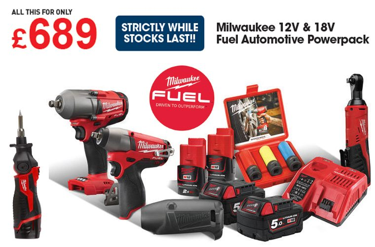Milwaukee automotive powerpack deal at The Parts Alliance