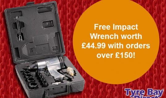Free air impact wrench on orders over £150 at Tyre Bay Direct