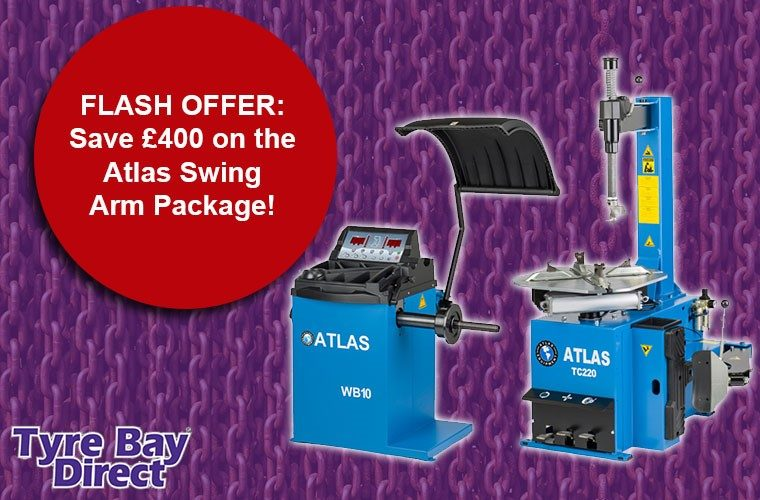 Save £400 on Atlas swing arm package with Tyre Bay Direct