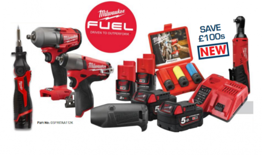 Milwaukee 12V and 18V fuel automotive powerpack deal at The Parts Alliance