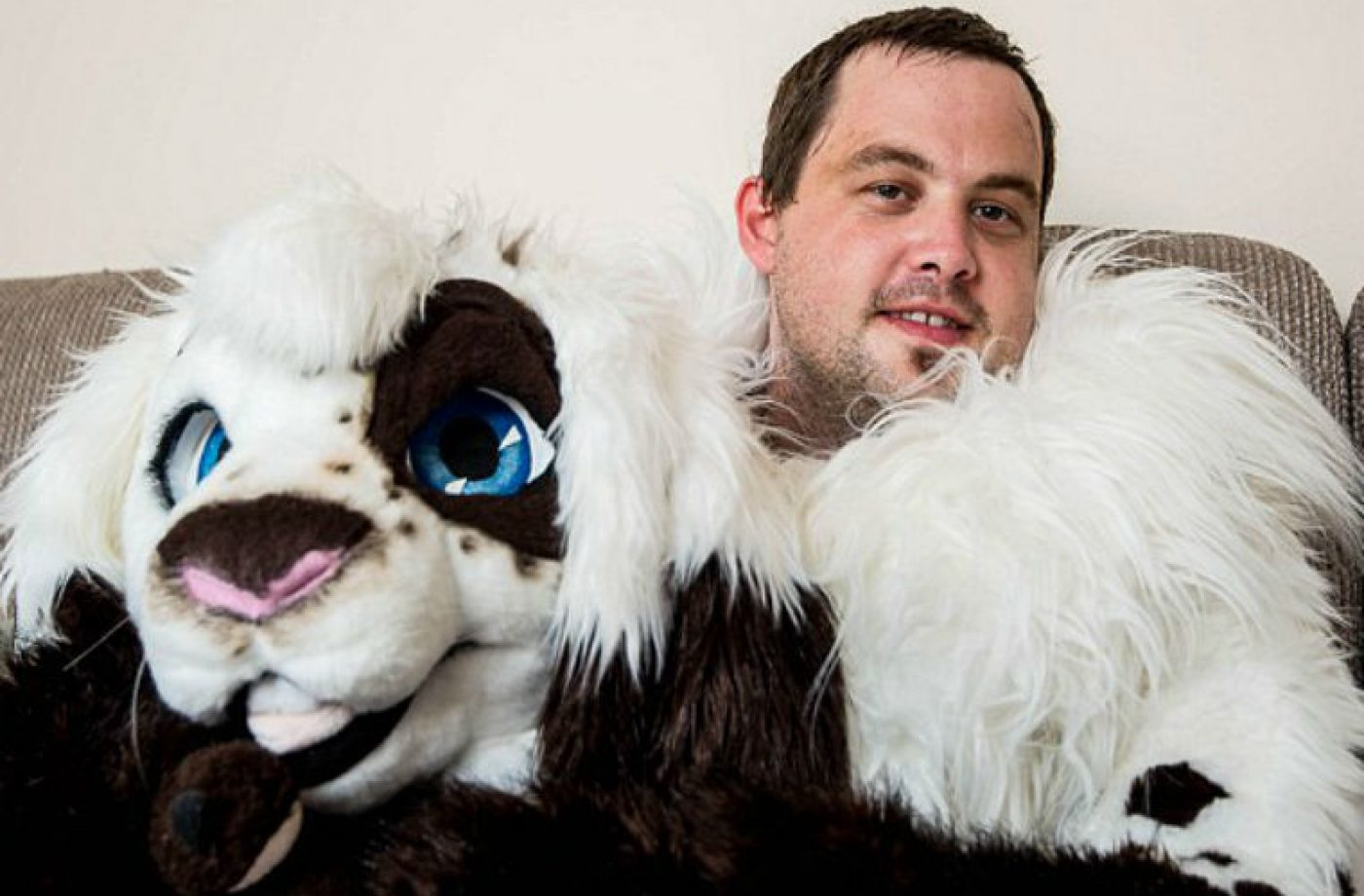 Mechanic explains why he spends his days off dressed as a giant bunny