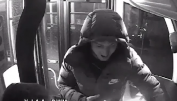 Watch: CCTV shows moment two teens crash stolen bus