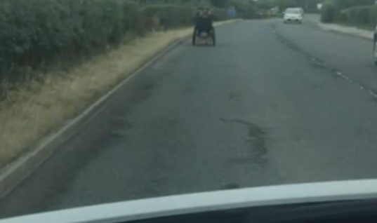 Video: Motorist catches wheelchair user doing 40mph