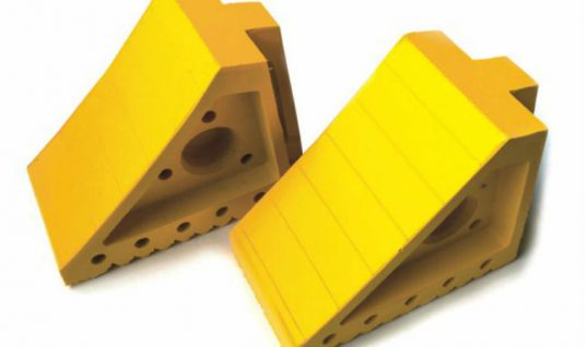 Saving on large high visibility wheel chocks at Prosol