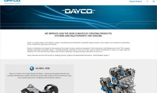 New Dayco websites spearhead global identity