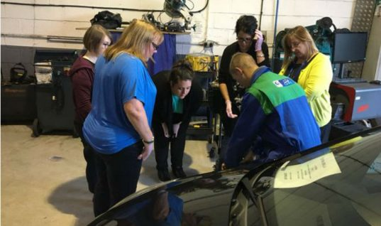 'Ladies night' draws crowds for Burton garage