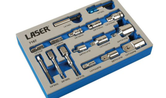 Socket and bit adaptor set from Laser Tools