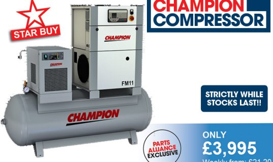 Champion Compressors – 11 kW Air Station introductory offer