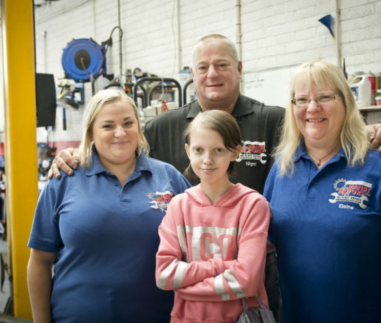 Your garage: Family-run garage supports local girl battling brain tumour