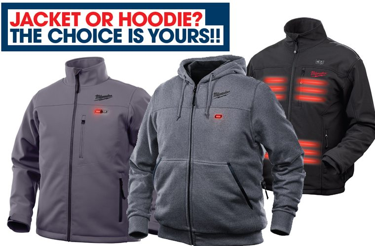 Milwaukee heated hoodie and jackets available now at The Parts Alliance