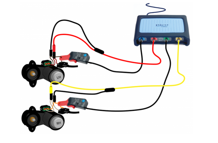 Systematic diagnostics with PicoScope solves Audi A6 Quattro parking brake failure