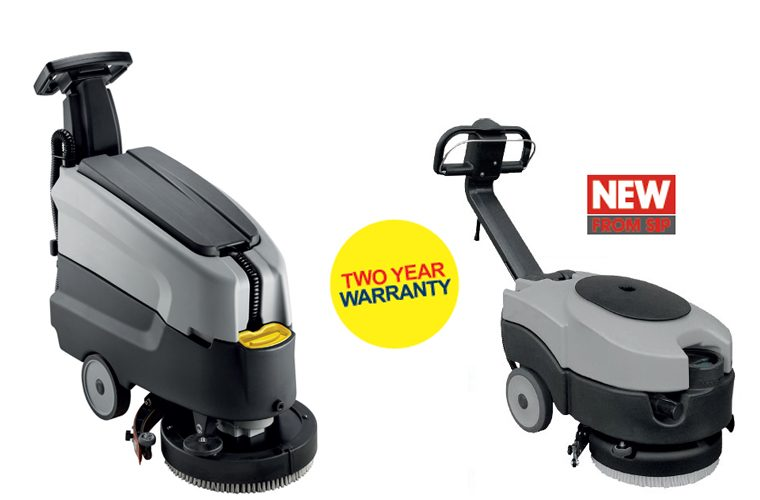New SIP Floor Scrubbers, with two year warranty