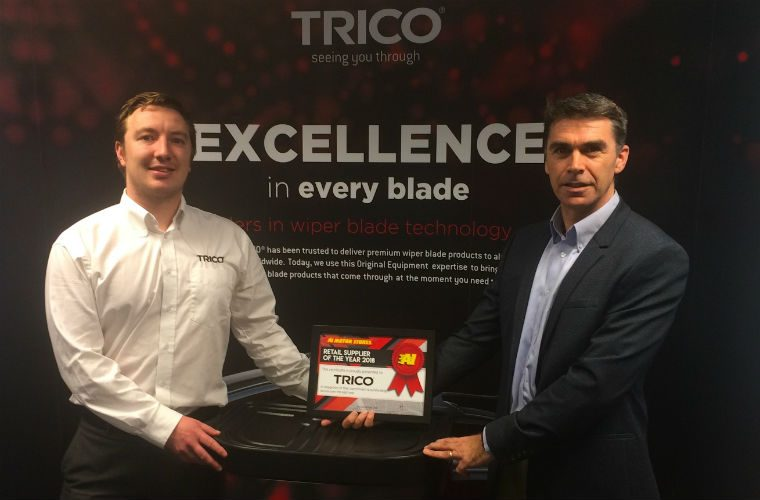 TRICO scoops retail supplier of the year award at A1 convention