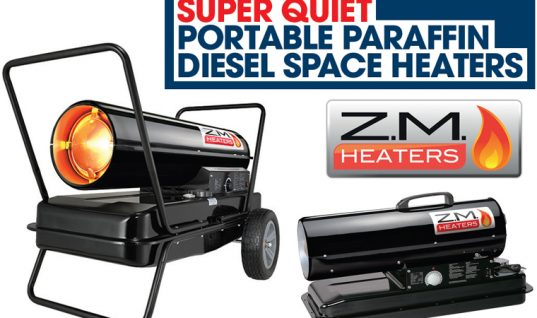 """Super quiet"" diesel space heaters from The Parts Alliance"