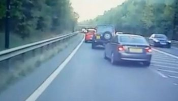 Discovery deliberately barges into the side of BMW as lanes merge