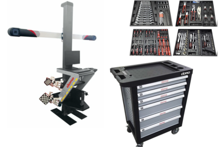 Dama wheel alignment supplied with FREE tool cabinet and tools from Hickleys