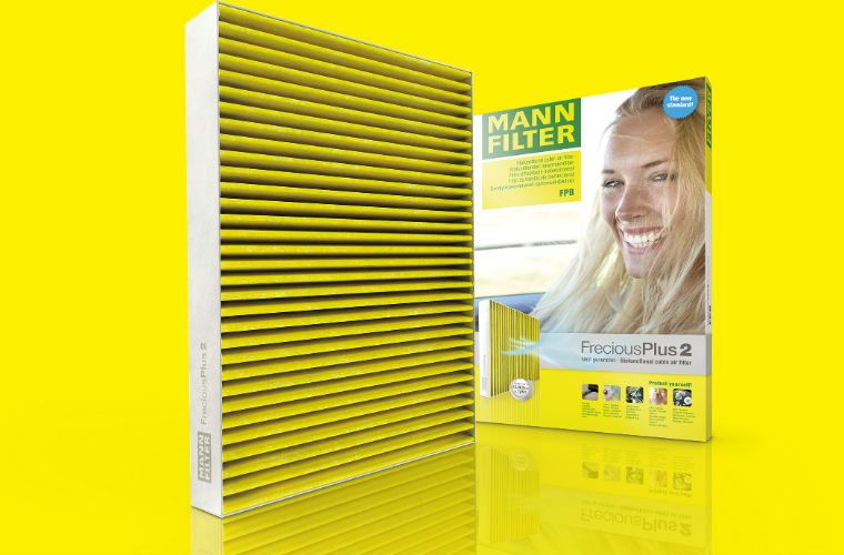 "Enhanced MANN-FILTER FreciousPlus brings ""new standard in cabin air filters"""