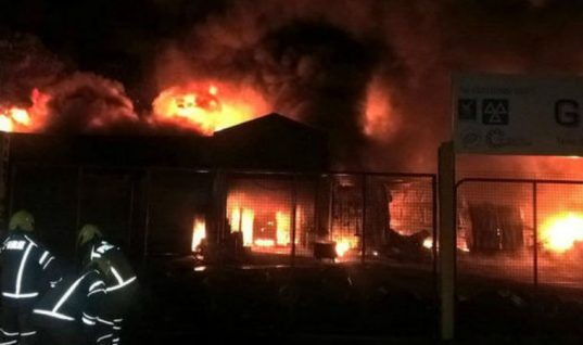 125 firefighters tackle major fire at luxury car dealership