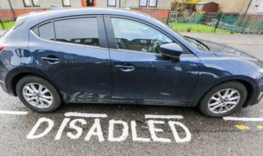 "Road marking blunder as ""disadled"" parking space appears"