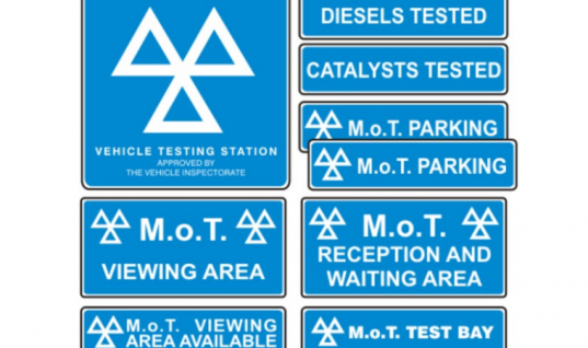 Save with interior and exterior MOT sign pack from Prosol